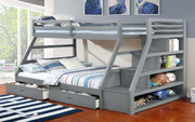 Luka Twin/Full Bunkbed w/ Storage Staircase #45547