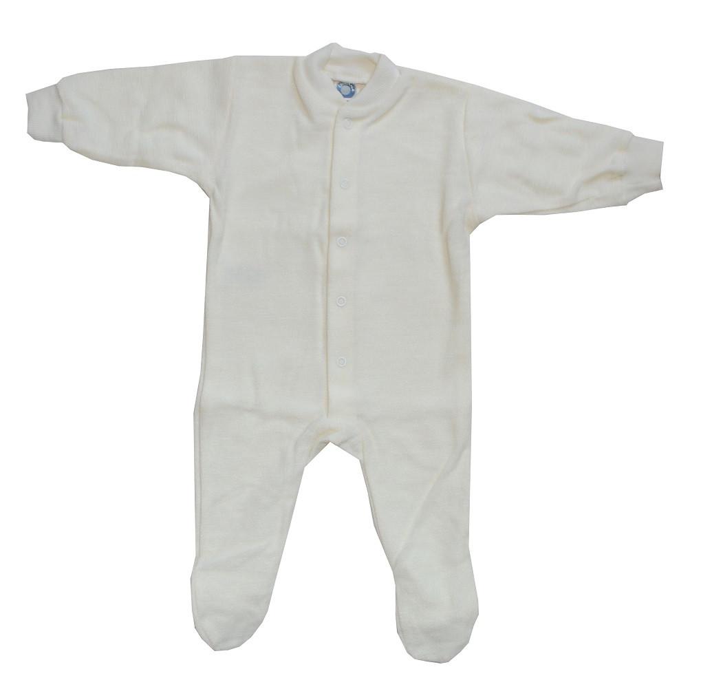 903106be3 Cosilana Organic Wool Terry Footed Pajamas - Little Spruce Organics