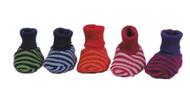 Organic Merino Wool Striped Knitted Booties