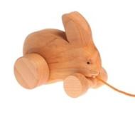 Grimm's Wooden Bobbing Rabbit Pull Toy