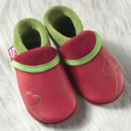 "Handmade Natural Leather Soft-Soled Indoor Slippers - ""Sunshine"""