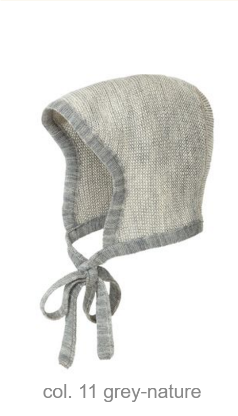 d6048aa08fd Disana Organic Merino Wool Knitted Melange Bonnet. Price   22.95. 11 Grey  Nature