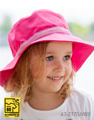 Organic Cotton Sun Hat Color: 217 Fuschia (UV80)