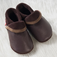 "Handmade Natural Leather Soft-Soled Indoor Slippers - ""Classic"""