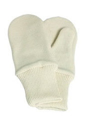 Ruskovilla Organic Wool Mittens Lined with Silk