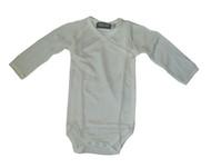 Organic Silk Long Sleeved Kimono Baby Bodysuit