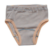 Apricot/ Natural/ Light Blue Stripes
