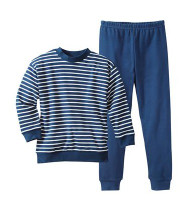 Navy/ Natural Stripes