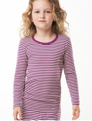 Purple/ natural stripes