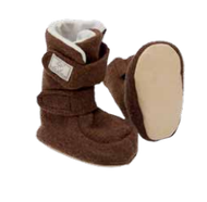 Organic Boiled Wool Winter Booties by Pickapooh
