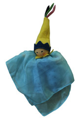 Natural Silk Fairy Doll - Light Blue