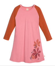 Pink Night Dress | Organic Cotton Long-Sleeved