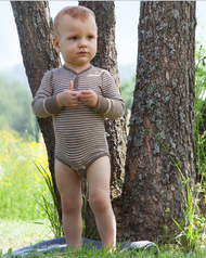 Organic Merino Wool/ Silk Long Sleeved Bodysuit | Engel