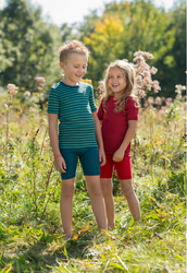 Children's Short Sleeve Shirt | Organic Wool/ Silk