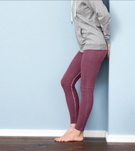Women Organic Cotton Leggings Color: rose stone