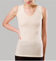 Women's   Sleeveless Shirt |  Organic Merino Wool/ Silk