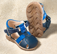 "Natural Leather Sandals | Pololo ""Playa"" blue"