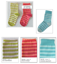Organic Cotton Kids' Socks with Rolled Cuff | Grodo 12806