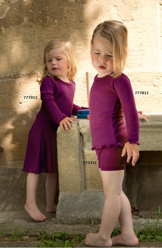 Engel Organic Wool / Silk Girls\' Night Gown in orchidee - Little ...