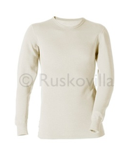 Ruskovilla Organic Merino Wool Silk Adult Long Underwear Shirt