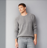 Men Knitted Sweater | 100% Organic Wool