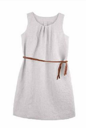 Organic Linen Women Summer Dress | PurePure 9402511