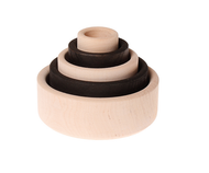 Grimm's Wooden Set of Bowls, monochrome