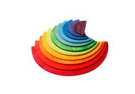Grimm's Wooden Large Semicircles, rainbow colours, 11 pieces