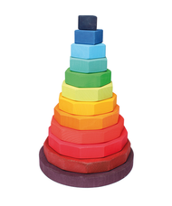 Grimm's Wooden Large Geometrical Stacking Tower