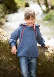 Organic Wool Fleece Kids Hooded Jacket Sweater