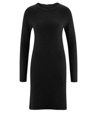Organic Wool Dress Color: black