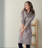 Organic Wool Dress Color: taupe melange