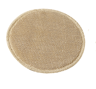 Natural schappe silk, with inlay of natural virgin  wool, three-ply