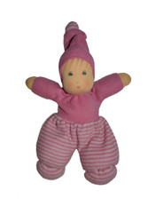 Organic Cotton Striped Waldorf Doll - Pink Striped 163443