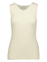 Ruskovilla Organic Merino Wool Silk Women Sleeveless Underwear Shirt