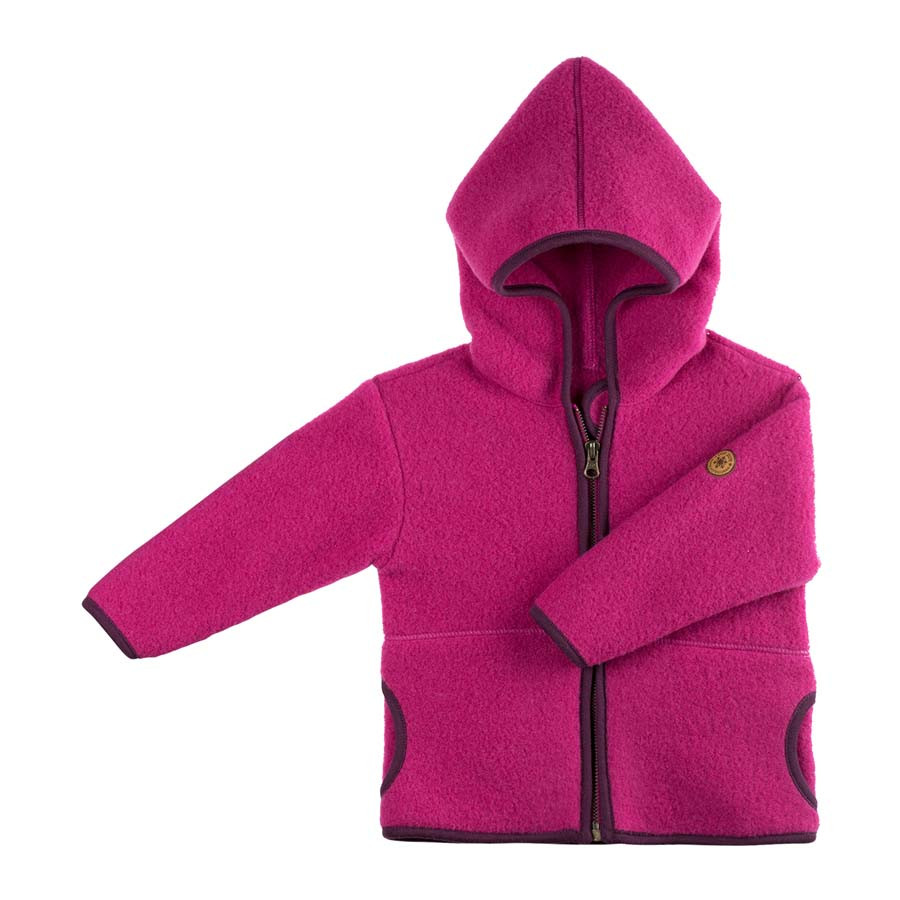 23dc82a0be61 Organic Merino Wool Fleece Baby Jacket - Little Spruce Organics