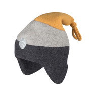 Organic Marino Wool Fleece Hat  Color: 96 slate grey