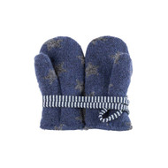 Baby Organic Wool Fleece Cotton Mittens  Color: 3096 navy-grey