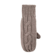 Women Organic Wool Mittens Color: 85 kaschmir