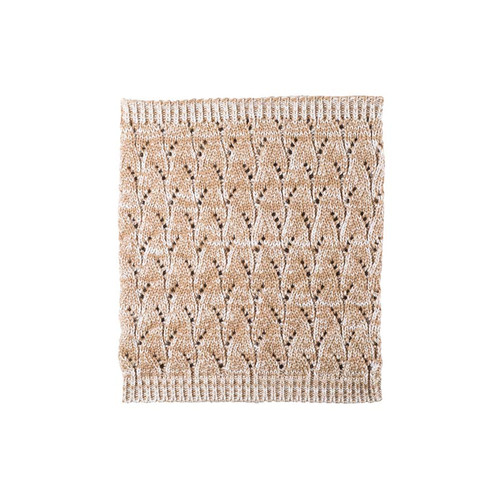 Organic Marino Wool, Cotton, Silk Neck Warmer Color: 80 beige