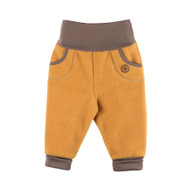 Organic Marino Wool Fleece Baby Pants Color: 081 honey