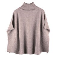 Organic Wool Women Poncho Color: 85 kaschmir