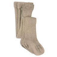 Kids Organic Cotton Tights Color: taupe