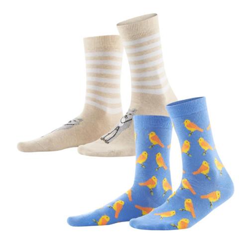 Women's Organic Cotton Socks Color: cobalt/candy