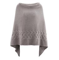 Women's Organic Wool Poncho