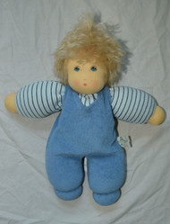 Organic Cotton Waldorf Doll - Boy with Blue Overalls