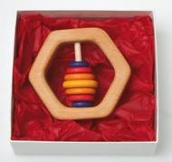 Hexagonal Wooden Rattle