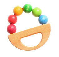 Wooden Rainbow Boat Clutching Toy
