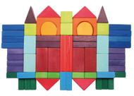 Wooden Geo Blocks by Grimm's Spiel & Holz (60 pcs)