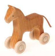 Wooden Horse on Wheels